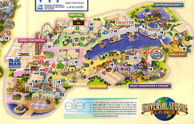Universal Florida Map.Get To Ride The Movies At Universal Studios Orlando Cohenzkii S Soup
